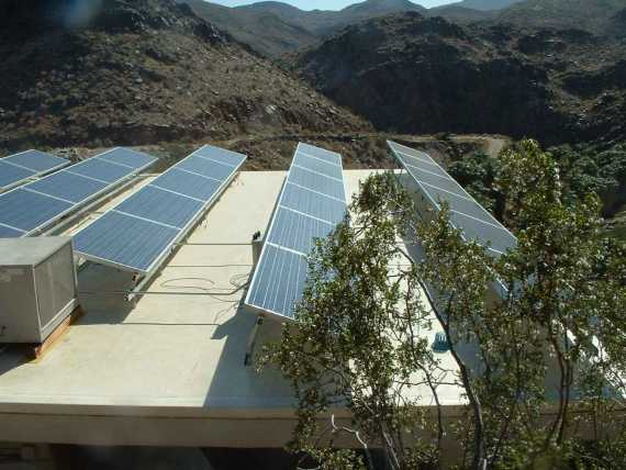 The Agua Caliente Band of Cahuilla Indians has installed an eight-kilowatt PV system atop the Indian Canyon Trading Post. The Diesel generator the tribe had been using is now used only in emergency situations