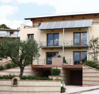 Uno scorcio di Leaf House, la cui energia è interamente prodotta da fonti rinnovabili