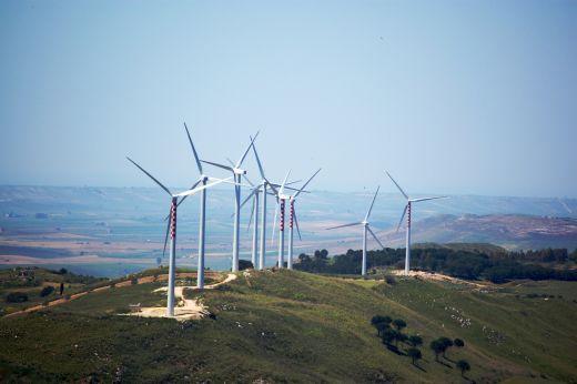 L'impianto eolico di E.ON a Trapani