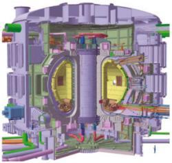 lo spaccato di un reattore ITER
